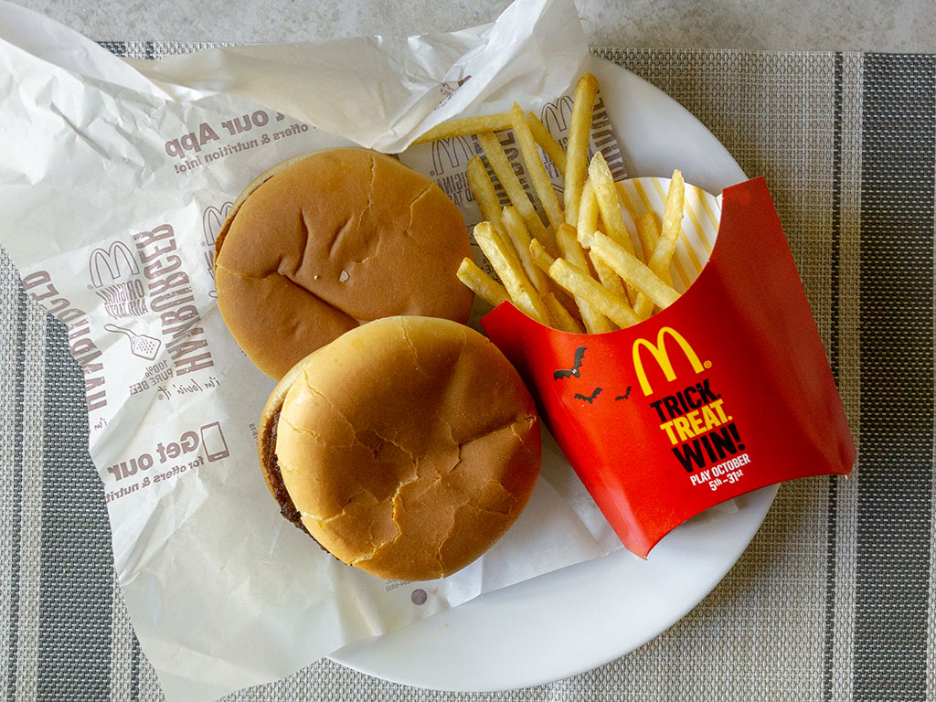 McDonald's burgers and fries