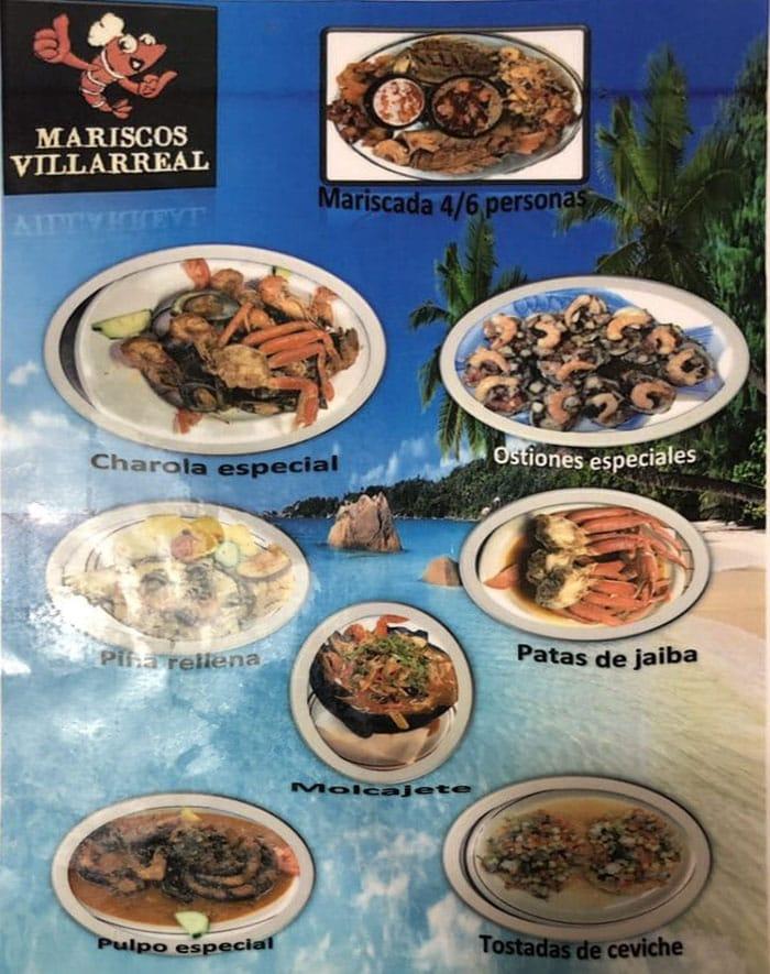 Mariscos Villareal menu - potehr dishes