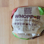 BK Whopper in package