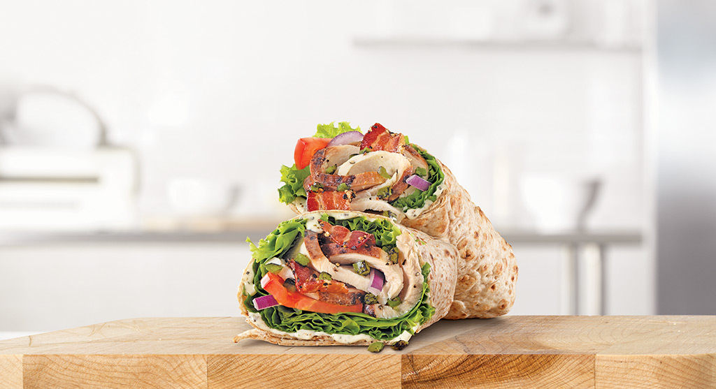 Jalapeño Bacon Ranch Chicken Wrap, credit Arby's