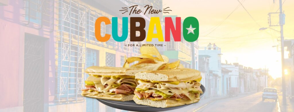 Cubano Sandwich at Quiznos