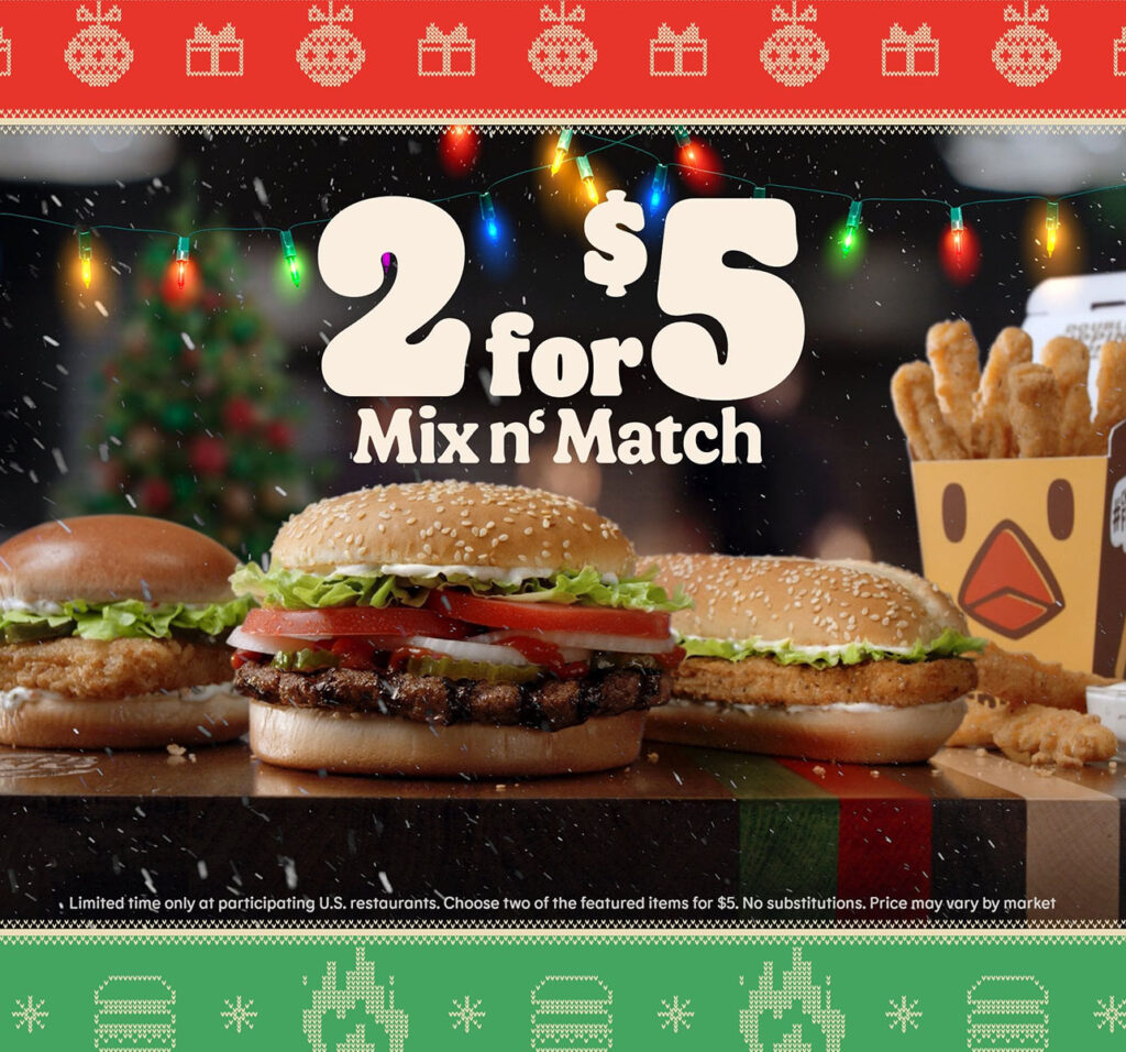 2 for $5 Deal at BK