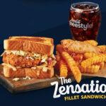 The Zensation Fillet Sandwich Meal at Zaxbys