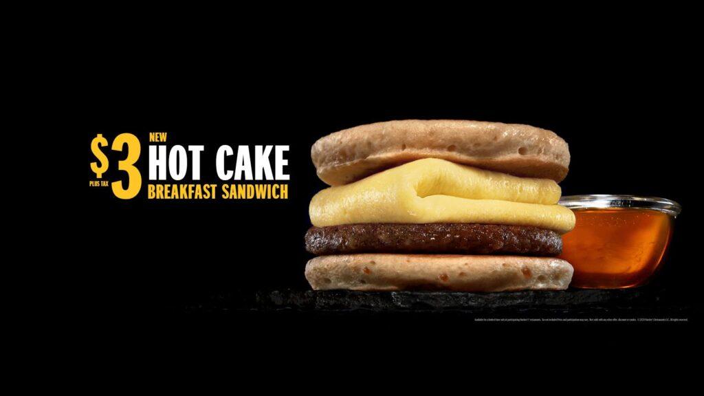 Hardee's Hot Cake Breakfast Sandwich