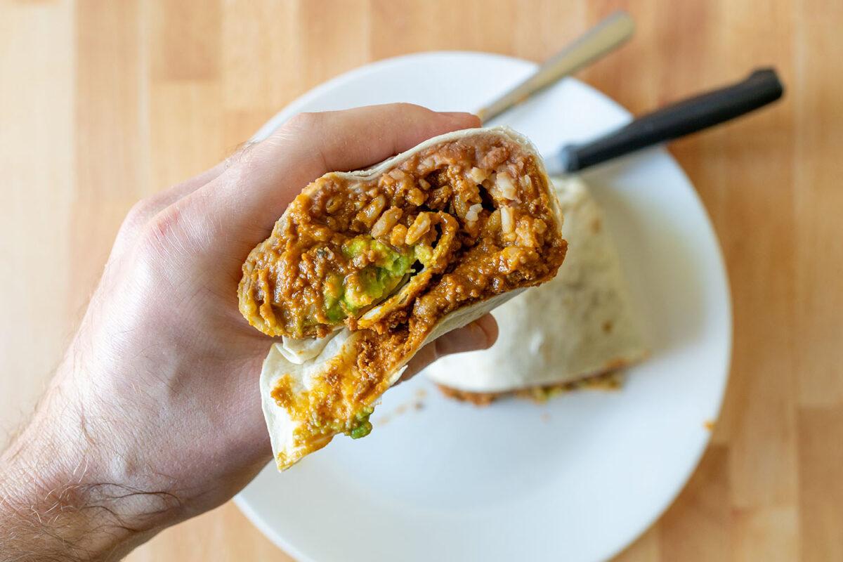 Epic Beyond Original Mex Burrito close up