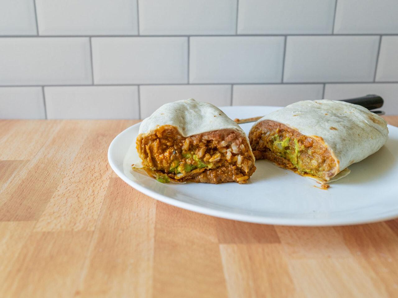 Epic Beyond Original Mex Burrito cross section