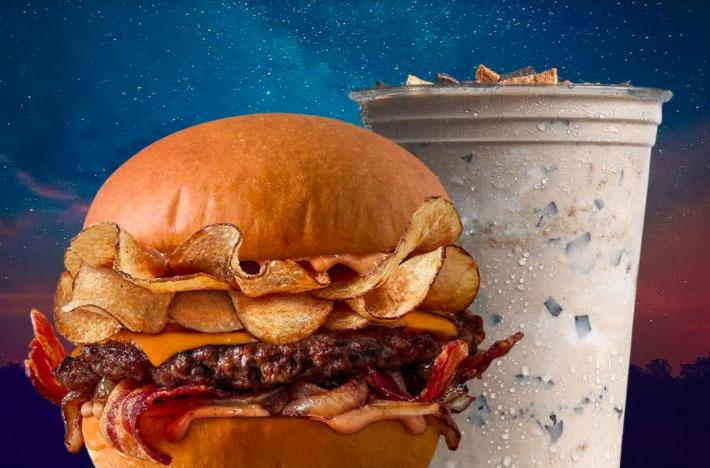 MOOYAH Burgers Debuts New Campfire Burger & S'mores Shake
