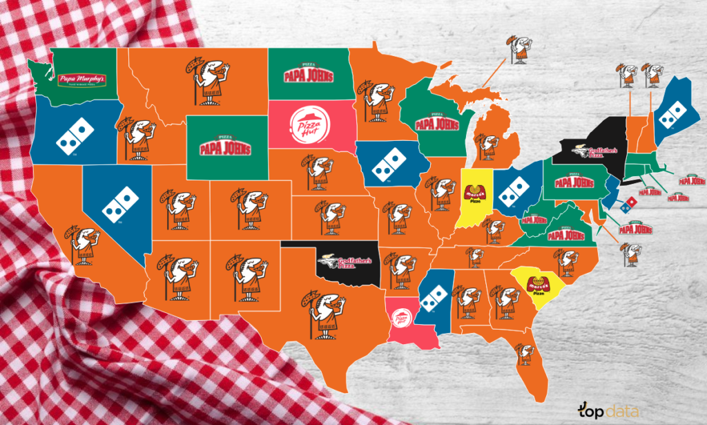 The Most Popular Fast Food Pizza In Every State