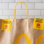 McDonald's food delivery bag