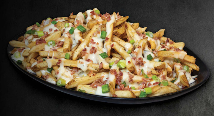 Mega loaded queso fries at TGI Fridays