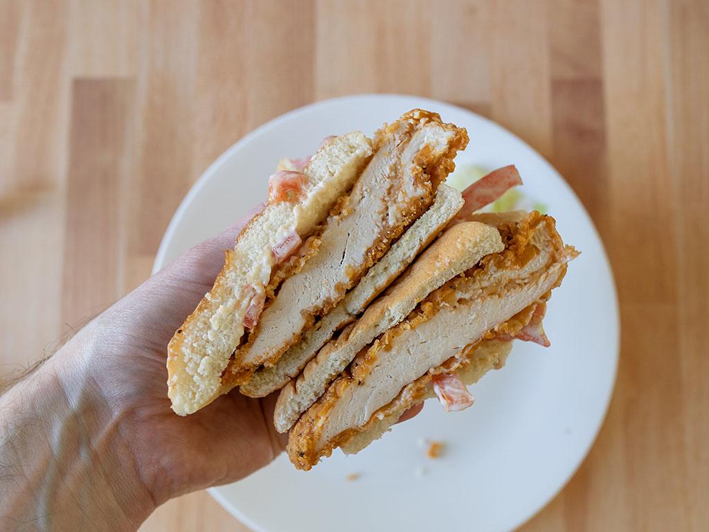 Wendy's Spicy Chicken Sandwich interior