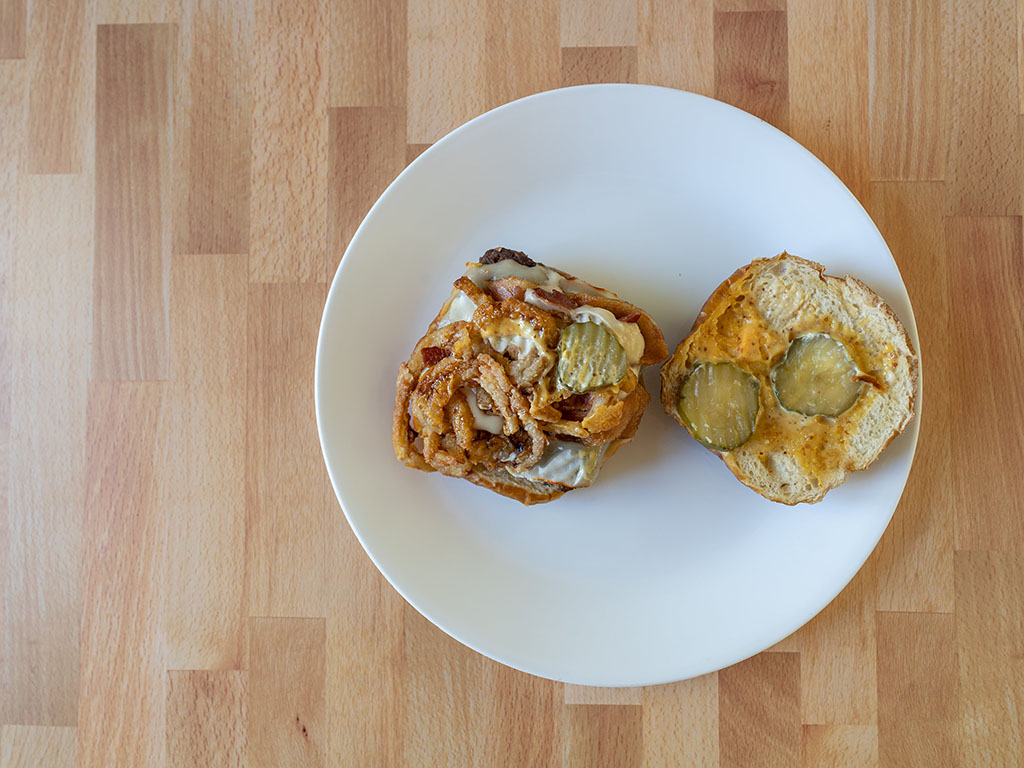 Wendy's Introduces Pretzel Bacon Pub Cheeseburger inside