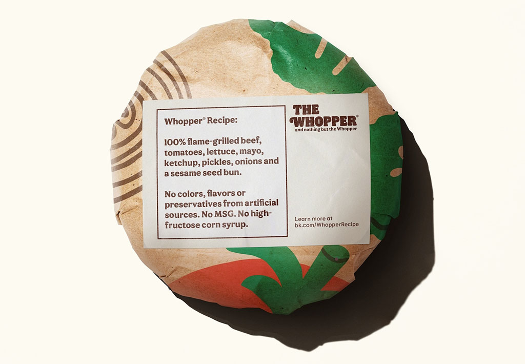 Whopper ingredients, BK