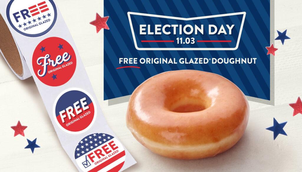 Free election day donuts at Krispy Kreme