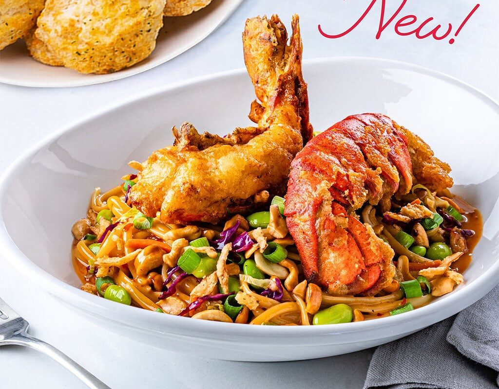 Red Lobster Kung Pao Noodles with Lobster