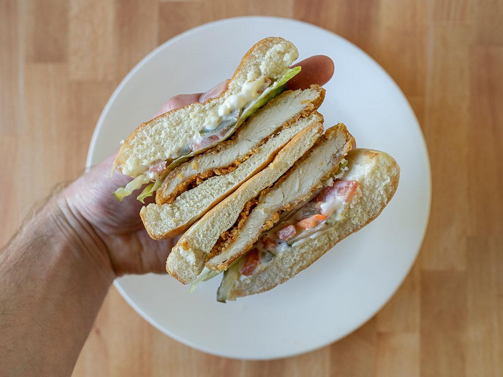 Wendy's Classic Chicken Sandwich sandwich close up