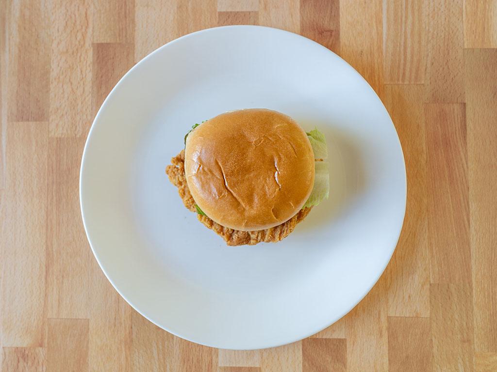 Wendy's Classic Chicken Sandwich top down