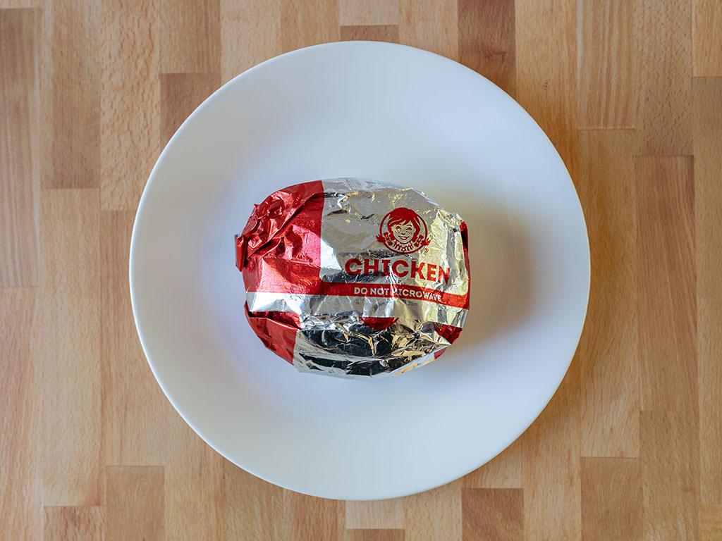Wendy's Classic Chicken Sandwich wrapper
