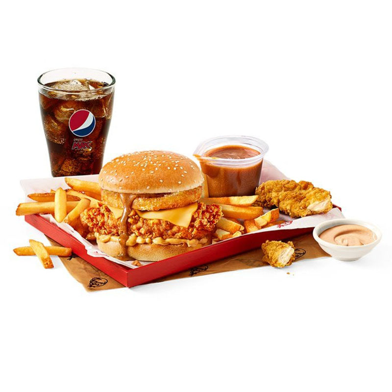 KFC UK Gravy Burger Box Meal