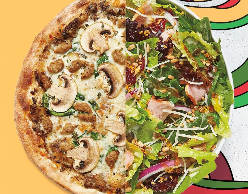 Mod Pizza - the Bella and Winter Salad
