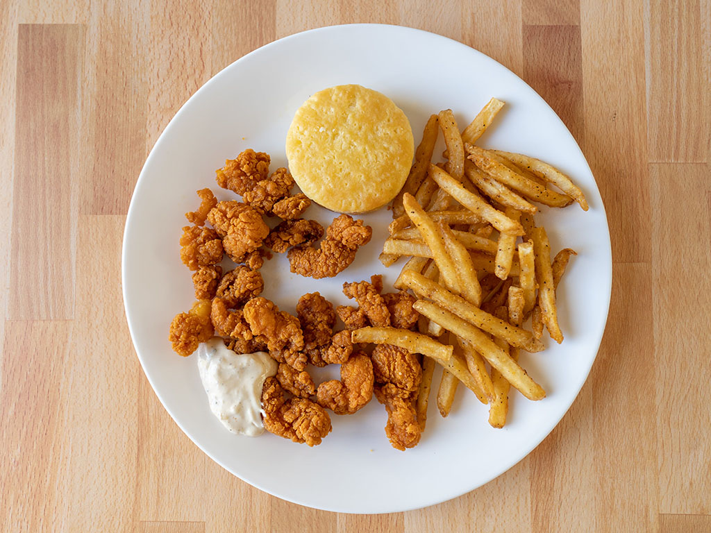 Popeye's Wicked Shrimp with Biscuit, Fries and Sauce