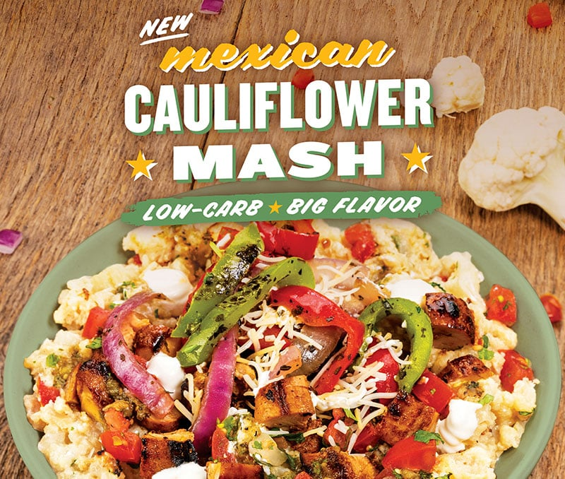 QDOBA Mexican Eats Launches Mexican Cauliflower Mash Nationwide