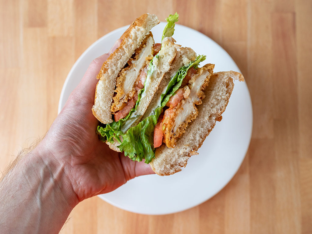The Habit Burger - Crispy Chicken Sandwich close up