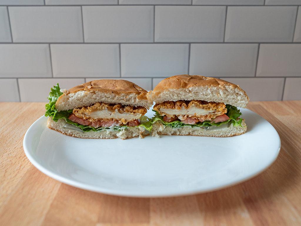 The Habit Burger - Crispy Chicken Sandwich cross section