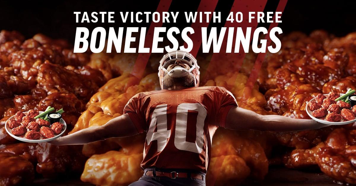Applebees 2021 Super Bowl pronmotion