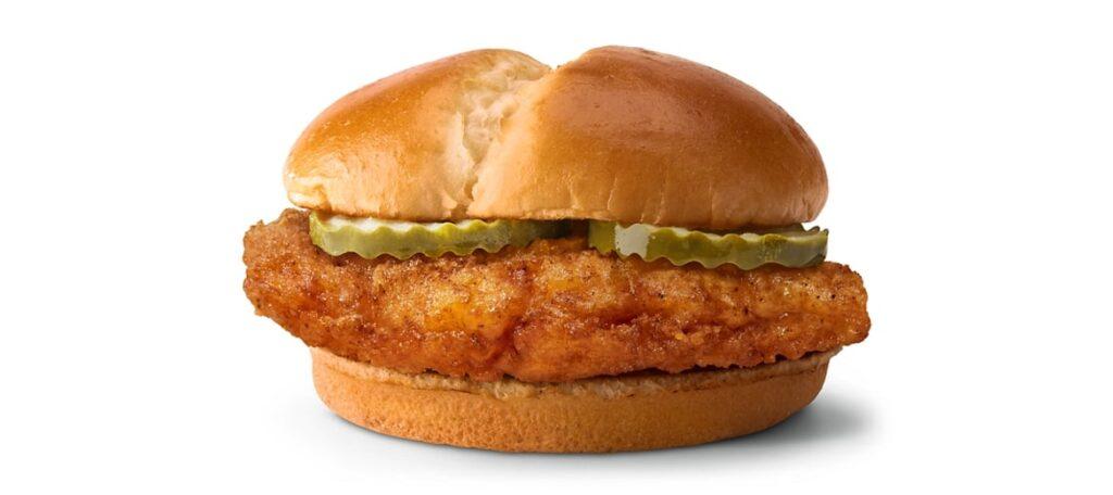 McDonald's Crispy Chicken Sandwich 2021