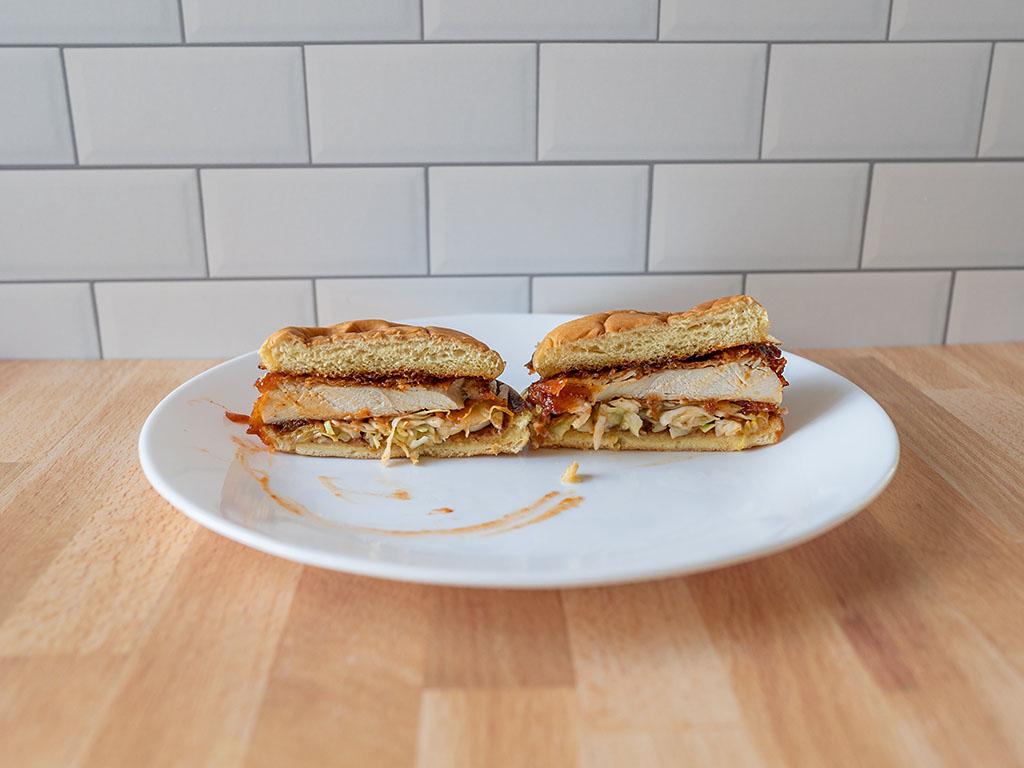 Shake Shack - Korean Fried Chicken Sandwich cross section