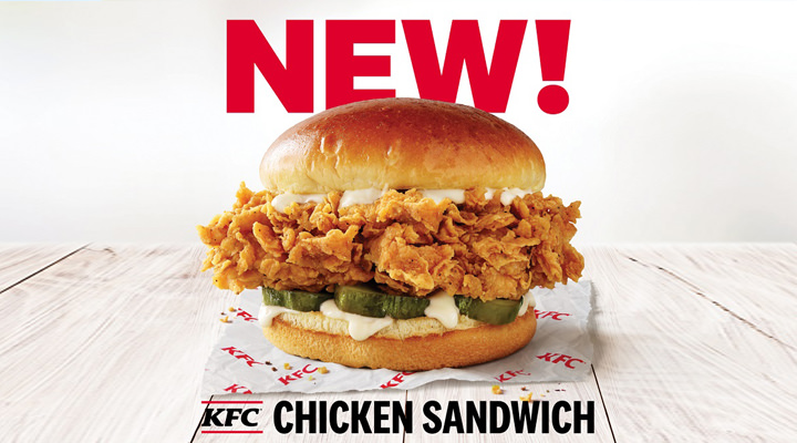 KFC Chicken Sandwich from 2020 testing