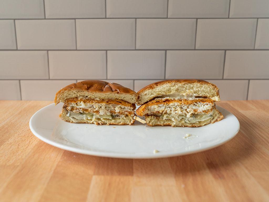 Cajun Flounder Sandwich cross section