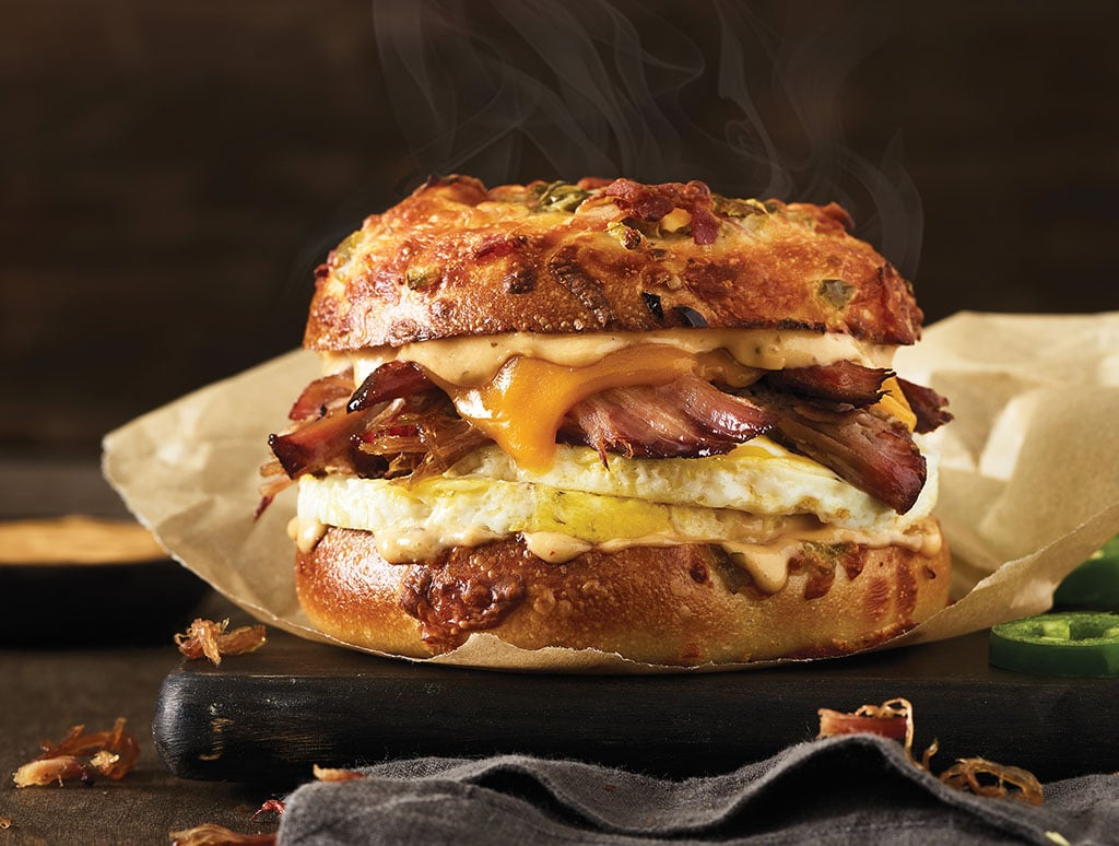 Einstein Bros Bagels Texas Brisket Egg Sandwich