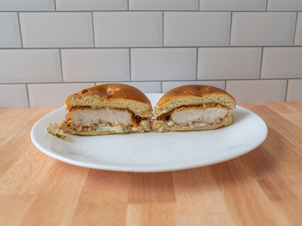 KFC Classic Chicken Sandwich interior