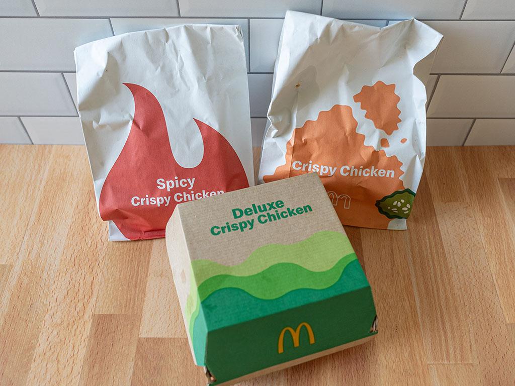 McDonald's Crispy Chicken Sandwich packaging