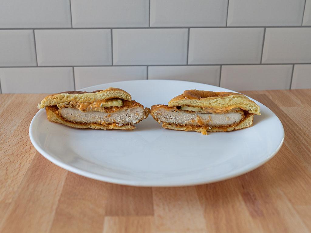 McDonald's Spicy Crispy Chicken Sandwich interior