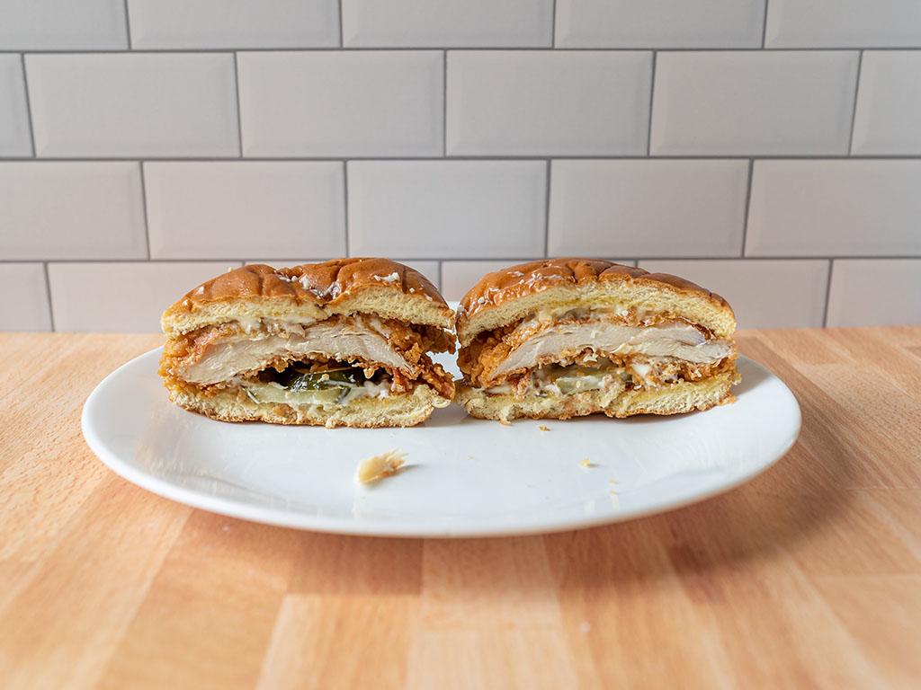 Popeyes Classic Chicken Sandwich interior