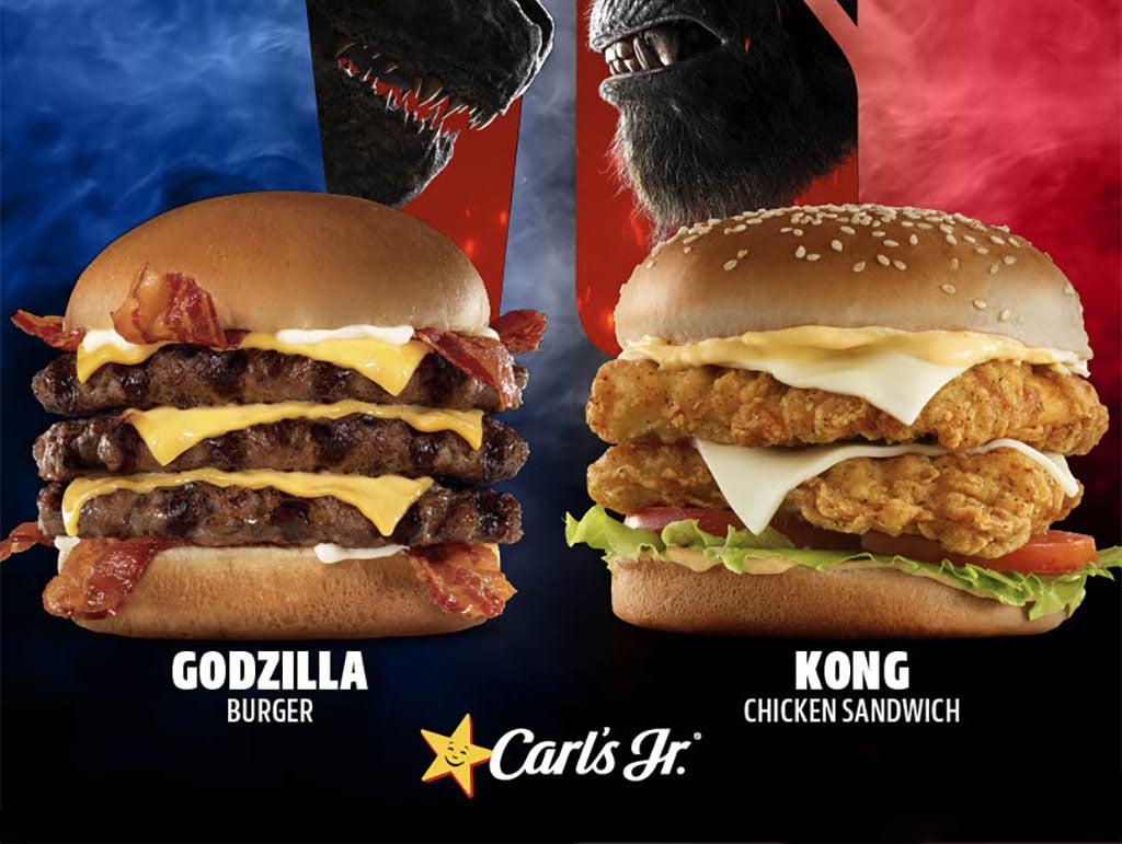 Carls and Hardees Godzilla vs Kong