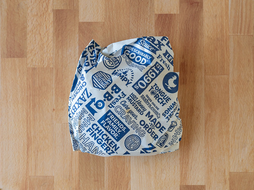 Zaxby's Signature Sandwich packaging