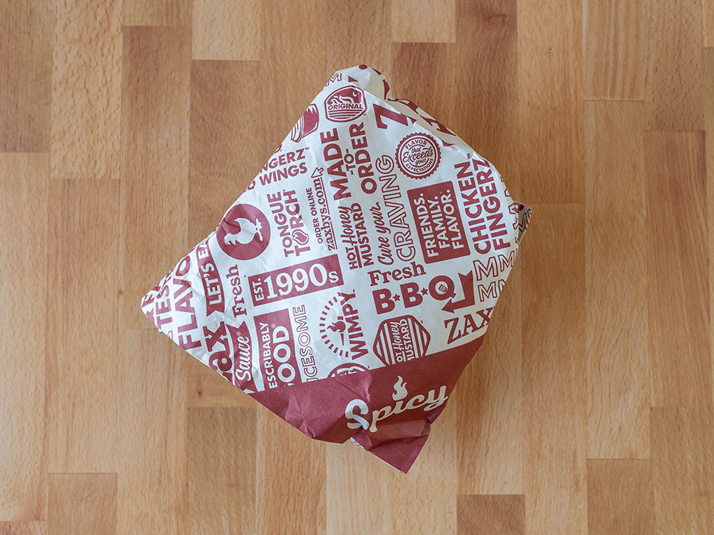 Zaxby's Spicy Signature Sandwich packaging