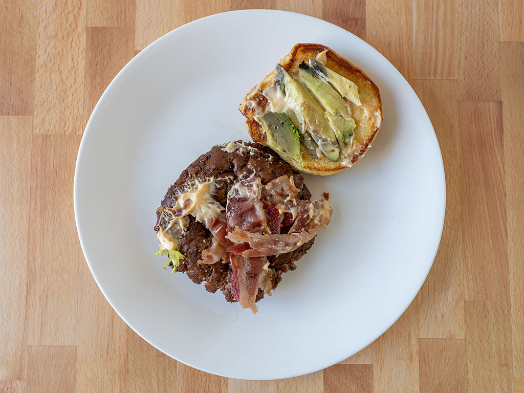 Avocado Bacon Burger toppings