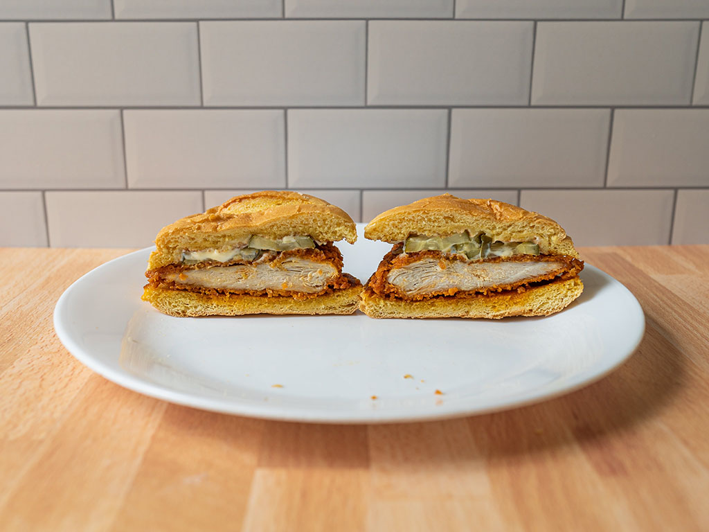 Smashburger Scorchin' Hot Crispy Chicken side view