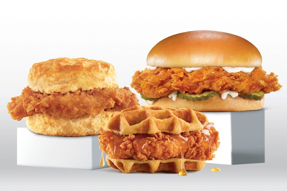 Carls and Hardees Hand-Breaded Chicken Sandwiches