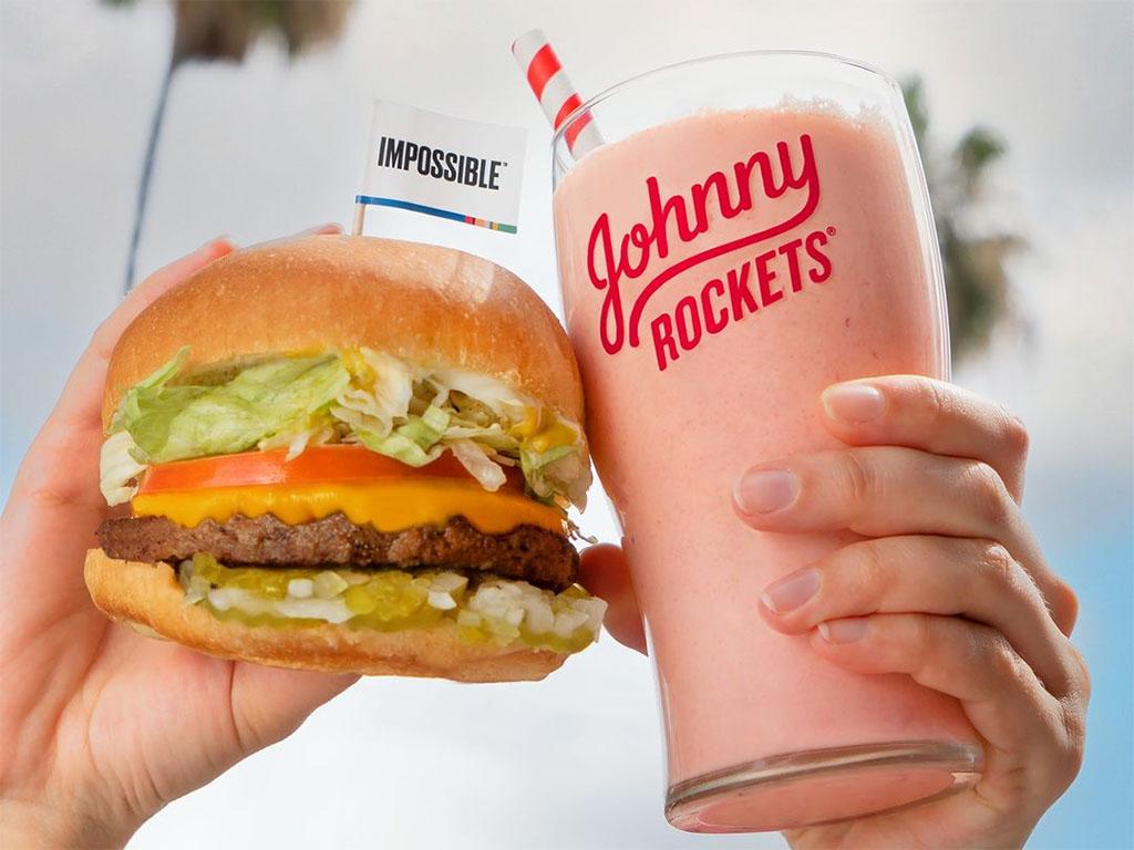 Jonny Rockets Impossible burger and vegan shake