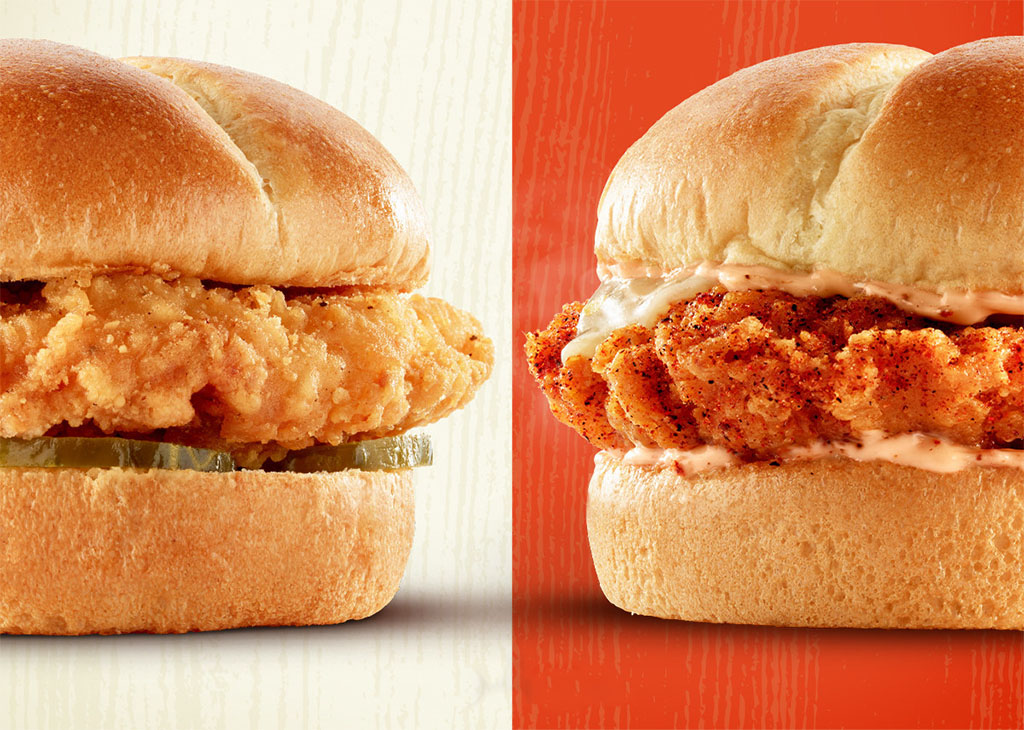 Pilot Flying J Classic and Spicy Chicken Sandwiches