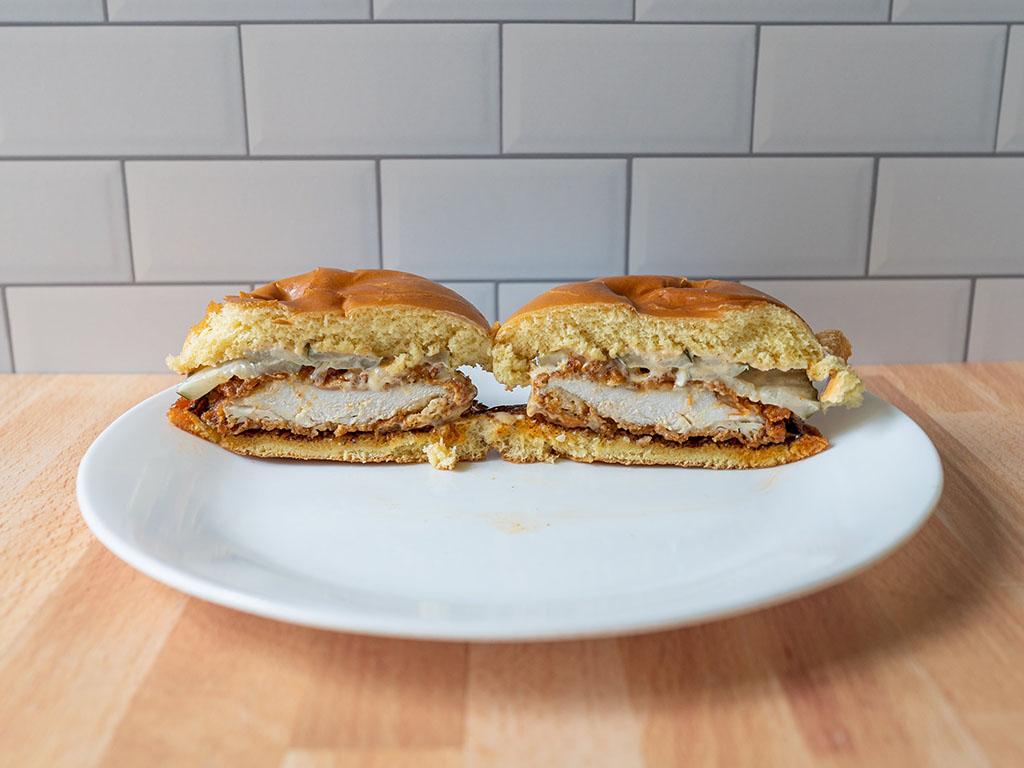 Spicy Hand-Breaded Chicken Sandwich 1 - interior