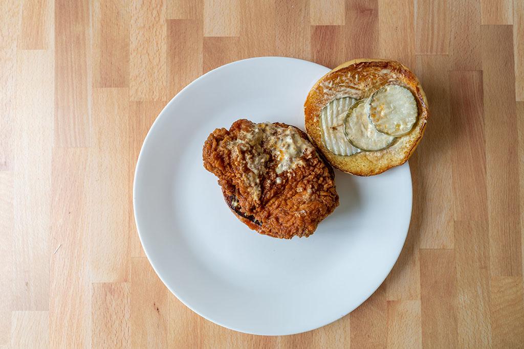 Spicy Hand-Breaded Chicken Sandwich 1 - top down