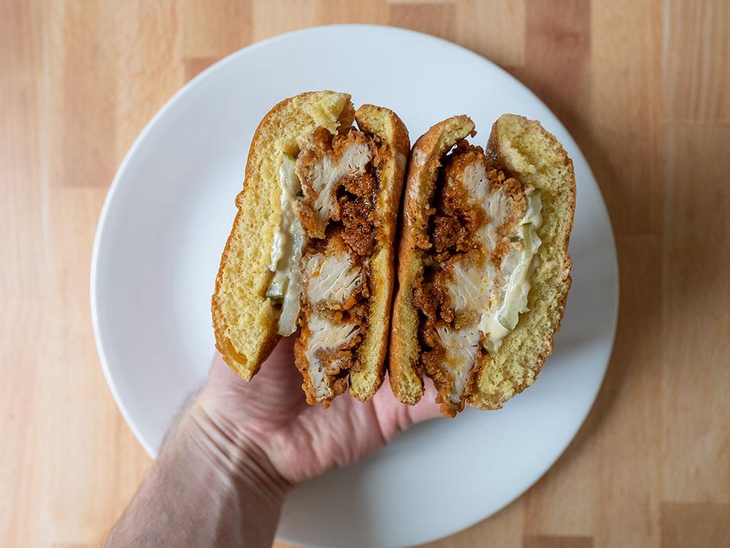 Spicy Hand-Breaded Chicken Sandwich 2 - interior close up