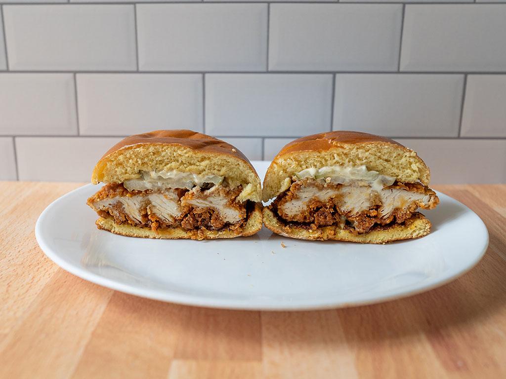 Spicy Hand-Breaded Chicken Sandwich 2 - interior